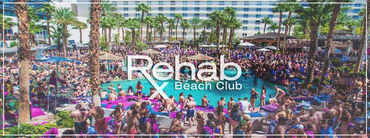 Rehab Beach Club Fight Weekend Party Spot