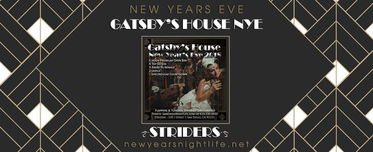 Gatsbys House | Striders San Diego New Years